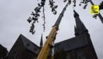 Werken aan torenspits zorgen voor spectaculaire taferelen