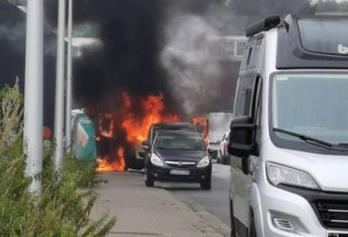 Bestelwagen brandt volledig uit in Edegem