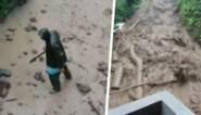 """Vrouw filmt moment waarop echtgenoot bijna in modderstroom terechtkomt: """"Raakte in paniek toen ik hem niet meer kon zien"""""""