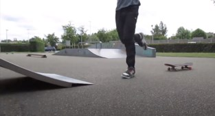 Video in het skatepark Tiensestraat
