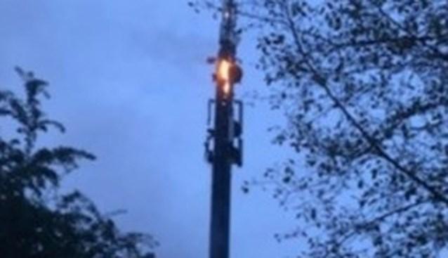 Brand aan zendmast in Watermaal-Bosvoorde aangestoken