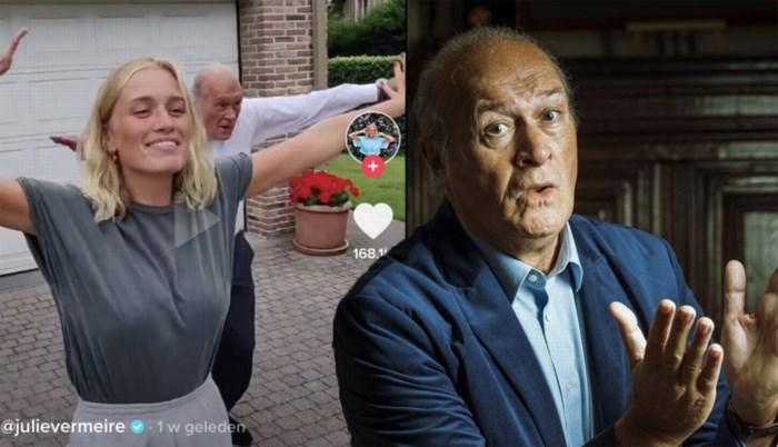 """Jacques Vermeire is een hit op TikTok, met dank aan dochter Julie: """"Ik beschouw dit als mijn opdracht in de maatschappij"""""""