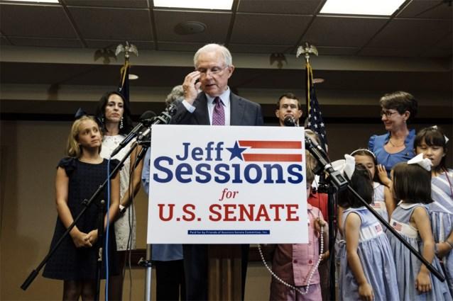 Trumps voormalige minister van Justitie Jeff Sessions mag niet terugkeren naar Senaat