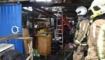 Opslagruimte volledig vernield na brand