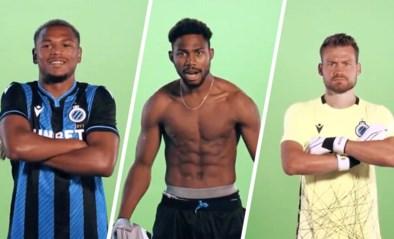 Poseren blijkt geen evidentie voor de spelers van Club Brugge, zeker niet als ze heel serieus moeten blijven