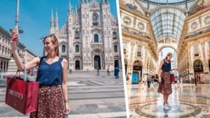 Onze reporter verkent Milaan, de Europese modestad die er momenteel verlaten bijligt