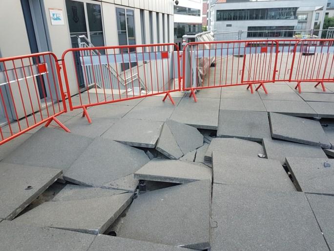 Parkbrug die beschadigd raakte door politiewagen tijdens wilde achtervolging is weer open