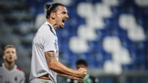 Zlatan Ibrahimovic loodst Milan, met Alexis Saelemaekers in de basis, langs Sassuolo
