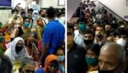 Kaap van één miljoen besmettingen overschreden in India: beelden tonen overvol ziekenhuis