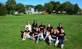 Organisatoren p'LatseDoen genieten van Belpop Bonanzawandeling