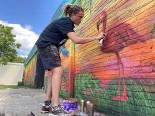 """Cédric (20) mocht eigenlijk zijn graffiti tonen aan de wereld op Tomorrowland, maar daar stak corona een stokje voor: """"Dit was ook een droomopdracht"""""""
