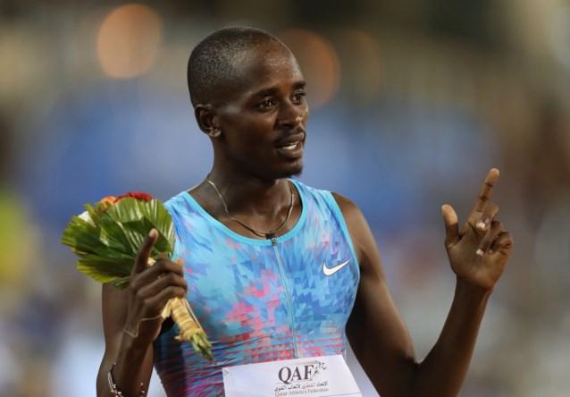 Elijah Manangoi, gewezen wereldkampioen op de 1.500 meter, heeft een schorsing aan zijn broek
