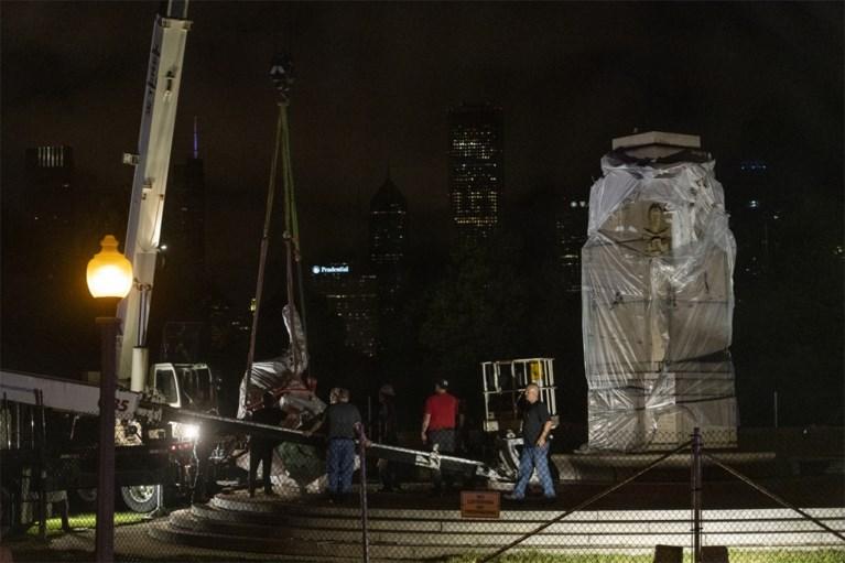Chicago haalt standbeeld van Christoffel Columbus van sokkel