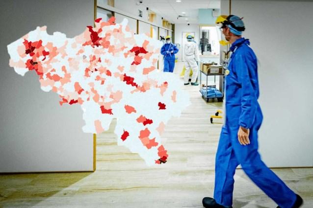 KAART. Welke gemeenten zitten boven alarmdrempel: bekijk hier hoeveel nieuwe besmettingen er in jouw gemeente zijn