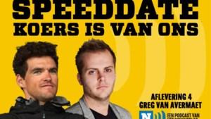 """SPEEDDATE DE KOERS IS VAN ONS. Greg Van Avermaet: """"Als ik nog eens olympisch kampioen word, krijgen alle ploegmakkers een samoeraipak"""""""