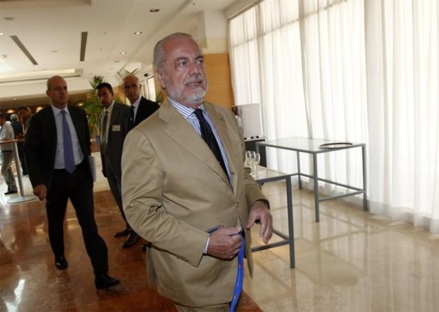 """Napoli-voorzitter wil terugwedstrijd van achtste finales niet spelen in Barcelona: """"Stad waar er grote problemen zijn"""""""