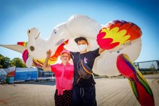 Mondmasker of niet: de warmste dag van het jaar zorgt voor vol strand op 'Hofstade Plage'