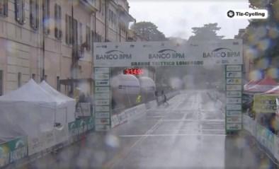 Italiaanse televisie laat het opnieuw afweten tijdens de koers: uitzending op Eurosport stilgelegd door rotweer
