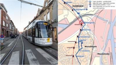 Drukste lijn van Gent onthoofd: tram 1 heeft even nieuwe eindhalte