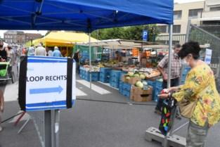 Halle went snel aan marktbezoek met strikte regels