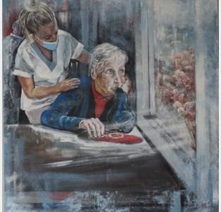 Verpleegster-schilderes wekt belangstelling in New York met coronakunst