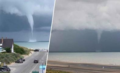 Indrukwekkend fenomeen aan Belgische kust: waterhoos voor strand van Oostduinkerke
