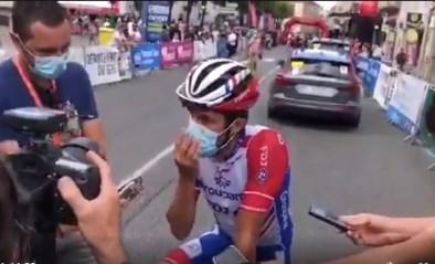 Eerste bergrit in Route d'Occitanie, Thibaut Pinot worstelt vooral met zijn mondmasker