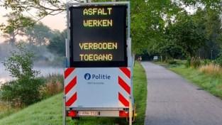Fietsen langs jaagpad even verboden, politie vraagt voorbijgangers omleiding te volgen