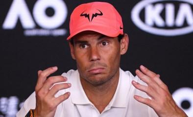 Titelverdediger Rafael Nadal past voor de US Open