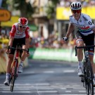 Impey was vorig jaar Tiesj Benoot te snel af in rit 9 in de Tour
