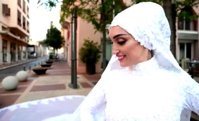 Wat de fotoshoot van haar mooiste dag ooit moest worden, ontaardt voor bruid in Beiroet in een nachtmerrie