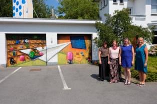 Een muurschildering als teken van solidariteit'