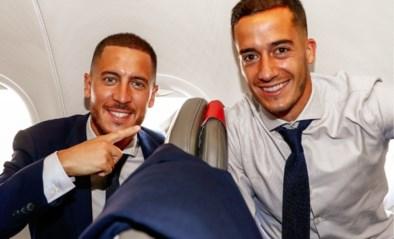 Eden Hazard en ploegmaats komen toe in Manchester