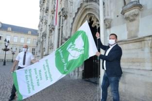 Brugge herdenkt atoombomaanvallen op Hiroshima en Nagasaki met vlag aan stadhuis
