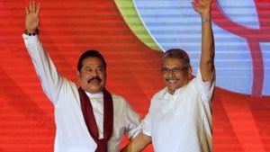 Alliantie rond broers Rajapaksa, huidig premier en president, wint verkiezingen in Sri Lanka