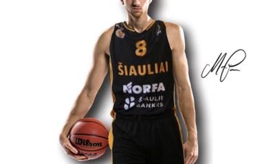 Antwerpenaar Andy Van Vliet gaat voor het Litouwse Siauliai basketten