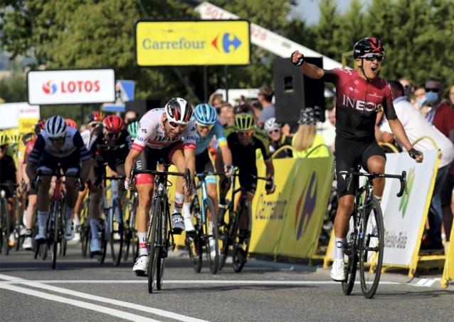 Richard Carapaz verschalkt uitgedund peloton in Ronde van Polen, zware val van Fransman Delage