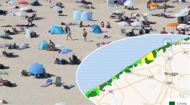 """De Haan eerste kustgemeente waar het al """"zeer druk"""" is, uur filerijden richting kust: kijk hier hoe druk het is aan zee"""