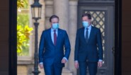 Opdrachthouders Magnette en De Wever brengen verslag uit bij de koning