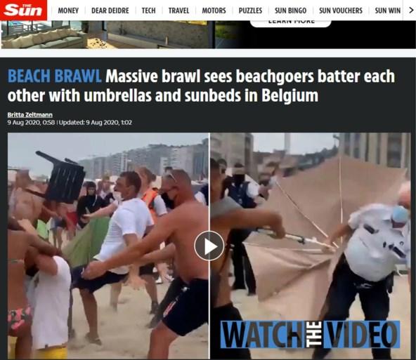 """Slechte reclame voor ons land: rellen in Blankenberge halen buitenlandse websites: """"België, waar agenten met hun eigen burgers vechten"""""""