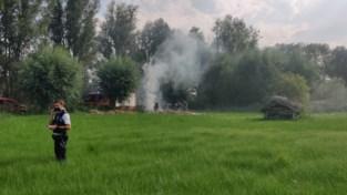 Hooi vliegt in brand in natuurgebied Rotersmeers