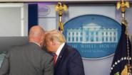 Schietpartij aan Witte Huis: president Trump onderbreekt abrupt persconferentie