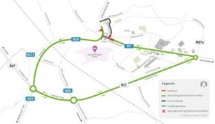 Kruispunt van de Bergévest met de Aandorenstraat tot begin november afgesloten