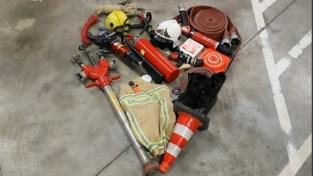 Antwerpse brandweermannen en -vrouwen herdenken Limburgse collega's