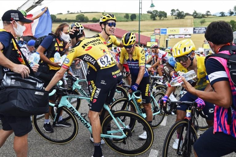 """Er staat opnieuw geen maat op Wout van Aert in Dauphiné: """"Die gele trein, dat werkt zo motiverend"""""""