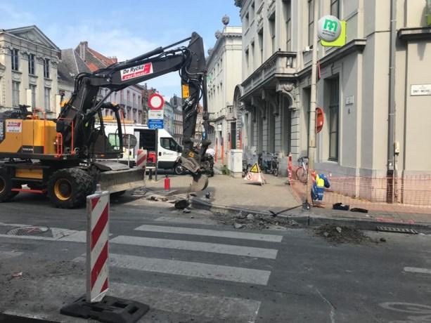 Gasleiding geraakt bij wegenwerken aan Poel