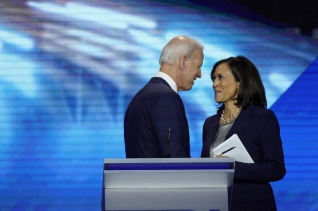 Joe Biden en Harris woensdagavond voor het eerst als running mates in Delaware