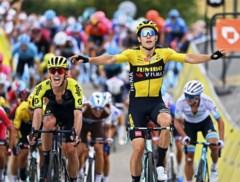 """Wout van Aert na zijn zege in openingsrit Dauphiné: """"Als je zo wordt afgezet, dan komt er weinig tactiek bij kijken"""""""