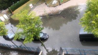 Wolkbreuk zorgt voor wateroverlast