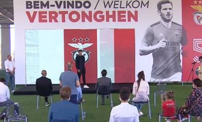"""Jan Vertonghen voorgesteld bij Benfica: """"Alleen maar lovende woorden van Witsel"""""""
